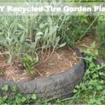DIY Recycled Tire Garden Planter