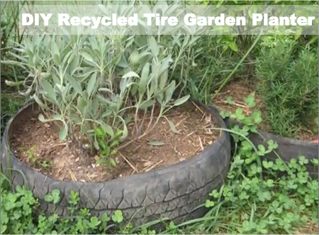 DIY Recycled Tire Garden Planter