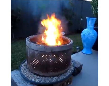 DIY Washing Machine Drum Fire Pit