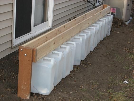 DIY Gutterless Rain Barrel System