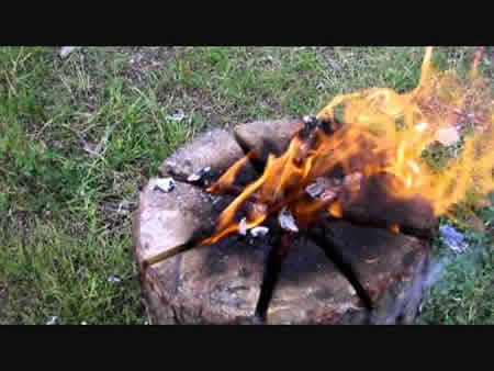How To Make A Swedish Fire Log