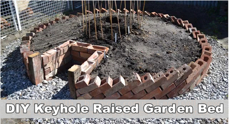 How To Build A Keyhole Raised Vegetable Garden Bed