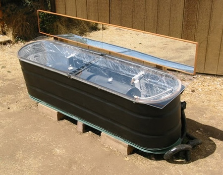DIY Stock Tank Solar Hot Water Heater