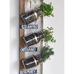 DIY Hanging Mason Jar Herb Garden