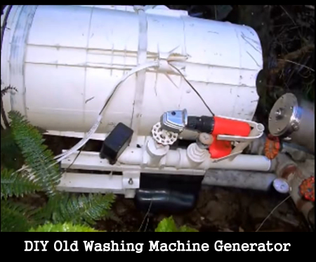 DIY Old Washing Machine Generator