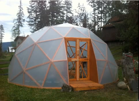Creative Silo Foundation on yurt greenhouse