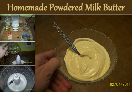 Homemade Powdered Milk Butter