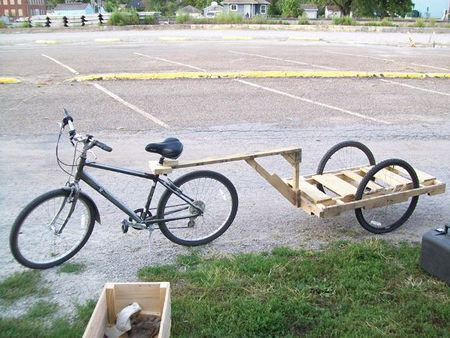 DIY $10 Bicycle Trailer
