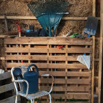 DIY Wood Pallet Garden Tool Shed