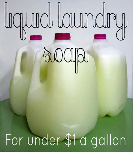 Homemade Liquid Laundry Soap Recipe