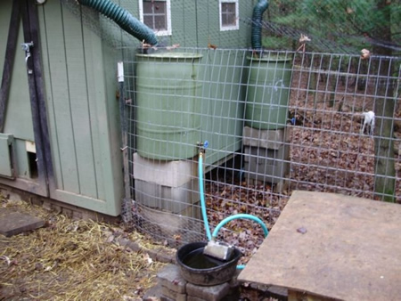 Diy Automatic Rain Water Chicken Waterer