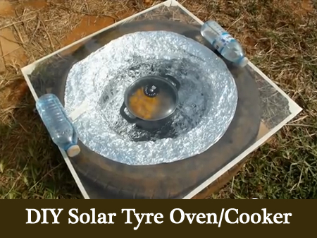 DIY Solar Tyre Oven