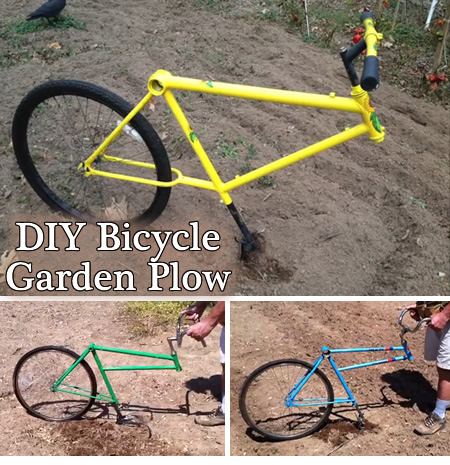 Diy Bicycle Garden Plow