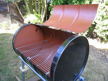 DIY Homemade BBQ Barrel
