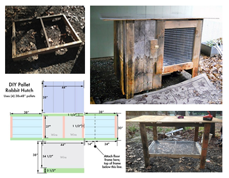 DIY Wood Pallet Rabit Hutch Plans