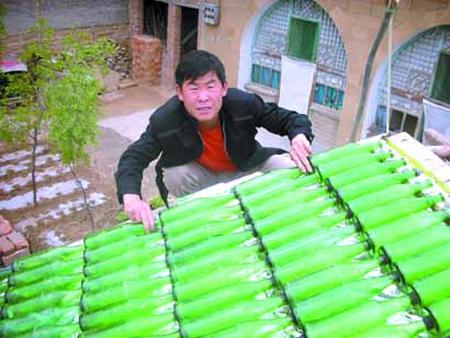 DIY Beer Bottle Solar Hot Water Heater