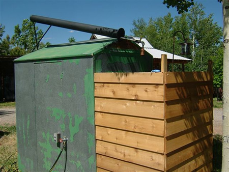 DIY Bazooka Outdoor Solar Shower