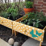DIY Old Drawer Raised Herb Garden Beds