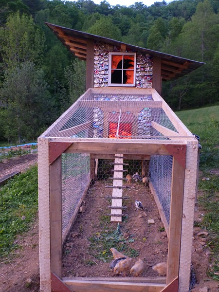 DIY Beer Can Shingle Chicken Coop