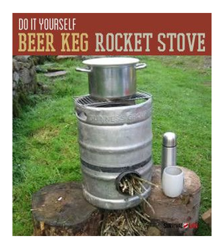 DIY Beer Keg Rocket Stove