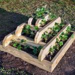 DIY Wooden Strawberry Pyramid Planter