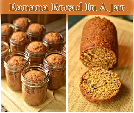 Homemade Banana Bread In A Jar