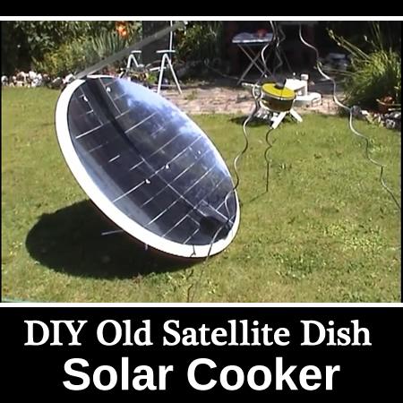 DIY Old Satellite Dish Solar Cooker