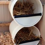 DIY Plastic Bucket Chicken Nesting Boxes