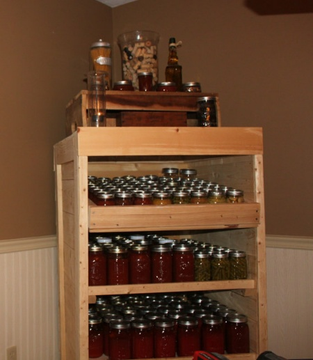 DIY Wood Pallet Canning Pantry