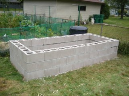DIY Cinder Block Raised Garden Beds