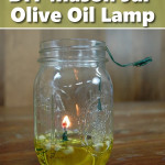 Homemade Olive Oil Mason Jar Lamp