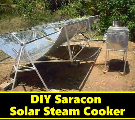 DIY Saracon Solar Steam Cooker