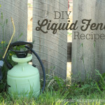 How To Make A Liquid Garden Fence