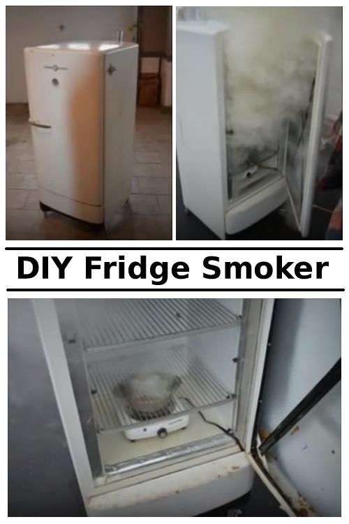DIY Old Fridge Smoker