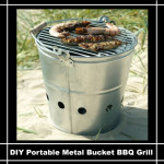 DIY Portable Metal Bucket BBQ Grill