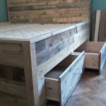 DIY Wood Pallet Bed With Drawers Tutorial