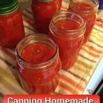 How To Can Homemade Fresh Marinara Sauce