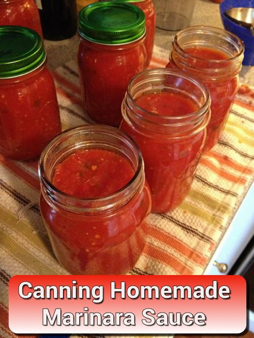 How To Can Homemade Fresh Marinara Sauce