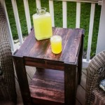 DIY Wood Pallet End Table Plans