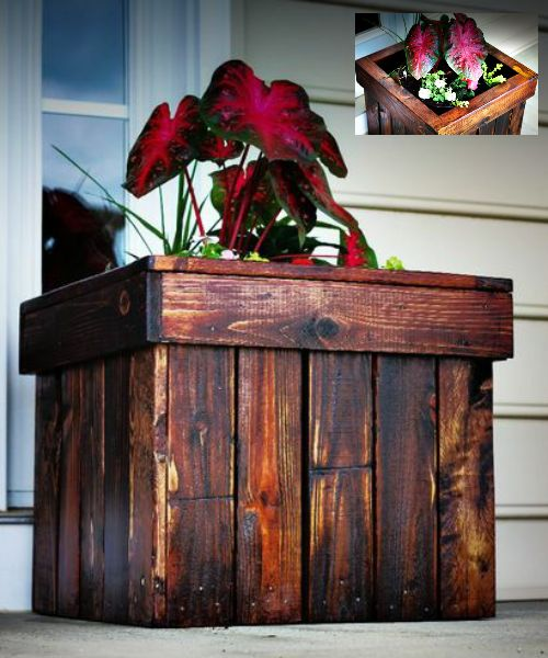 how to make a planter box out of pallet wood