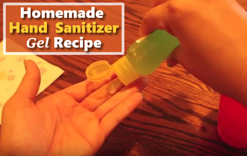 Homemade All Natural Hand Sanitizer Gel Recipe