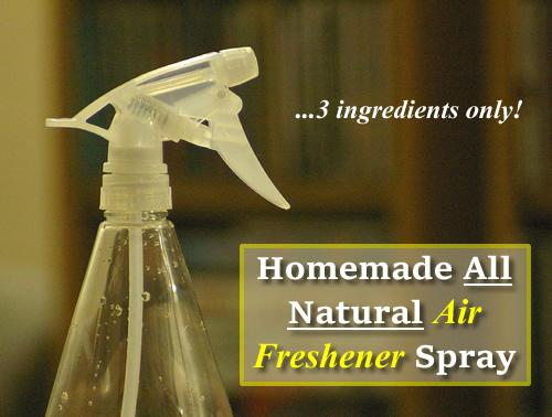 Homemade All Natural Air Freshener Spray