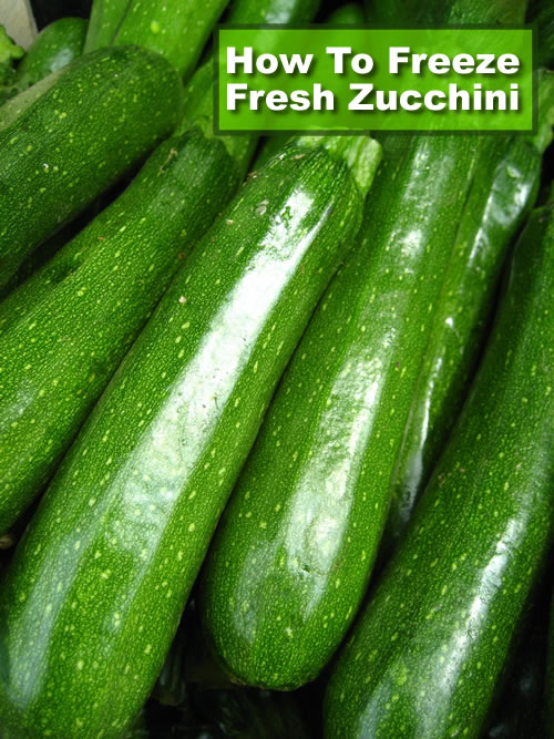 How To Freeze Fresh Zucchini