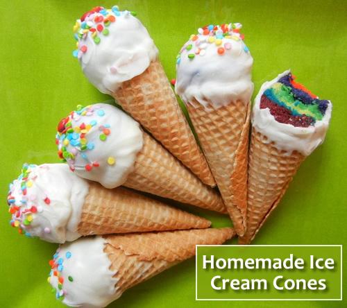 Homemade Ice Cream Cones Recipe