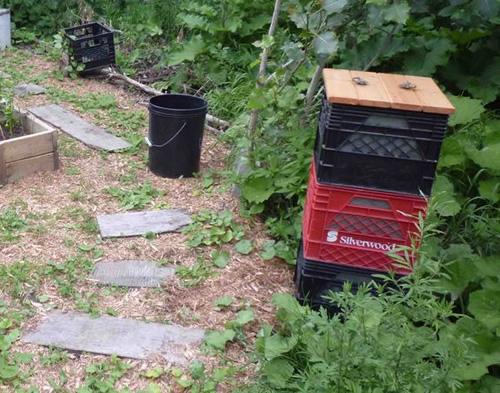 DIY Milk Crate Composter