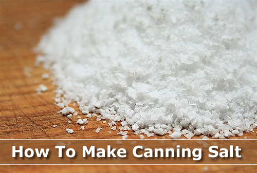 How To Make Your Own Canning Salt