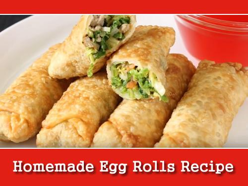 Homemade Egg Rolls Recipe