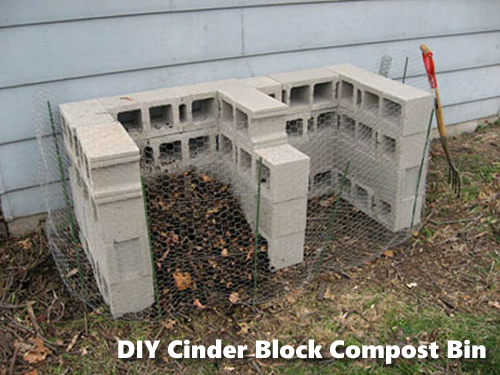 DIY Cinder Block Compost Bin