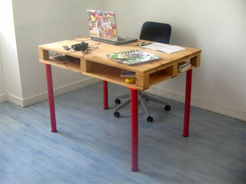 DIY Wood Pallet Desk