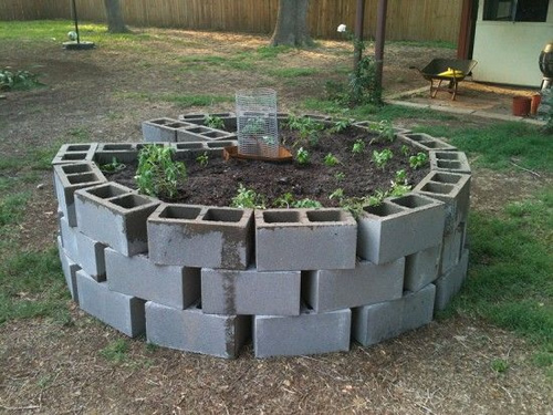 How To Build A Cinder Block Keyhole Garden